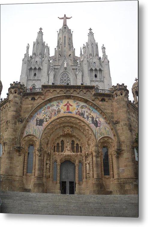 Europe Metal Print featuring the photograph Barcelona - Temple Expiatori Del Sagrat Cor by Michael Piotrowski