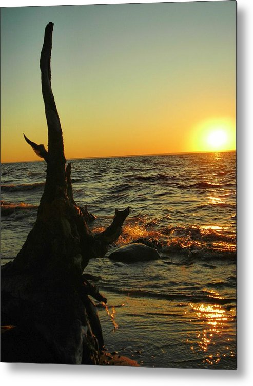 Sunset Metal Print featuring the photograph Castle On The Watch by Peter Mowry