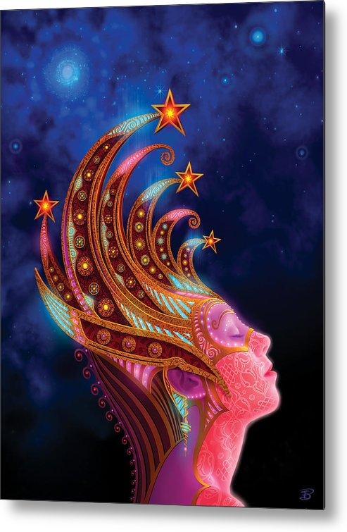 Utherworlds Metal Print featuring the painting Celestial Queen by Philip Straub