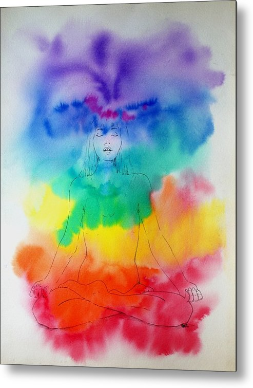 Colour Metal Print featuring the painting Colour Meditation by Janice Gell