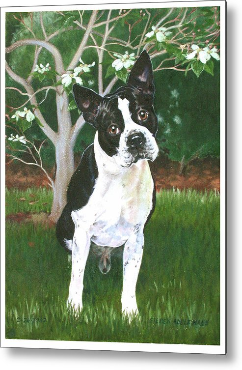 Portrait Metal Print featuring the painting Ditto by Eileen Hale