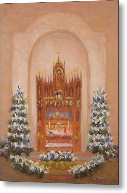 Church Metal Print featuring the painting Easter At St. Martins by Bunny Oliver