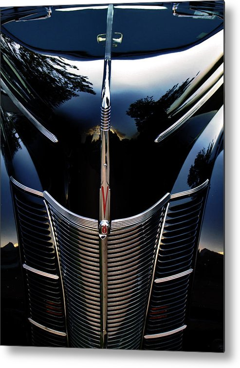 1940 Metal Print featuring the photograph Ford Bonnet by Karen Lewis