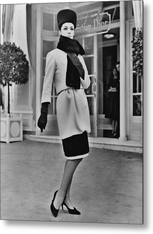 History Metal Print featuring the photograph French Designer, Christian Dior by Everett
