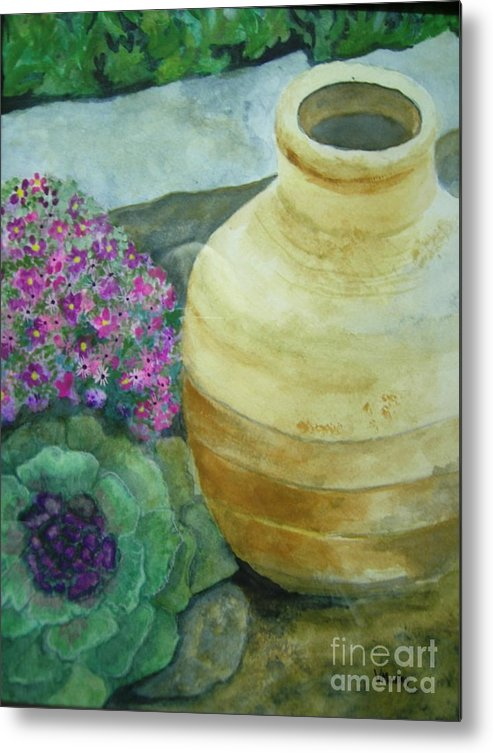 Landscape Metal Print featuring the painting Garden Path by Vivian Mosley
