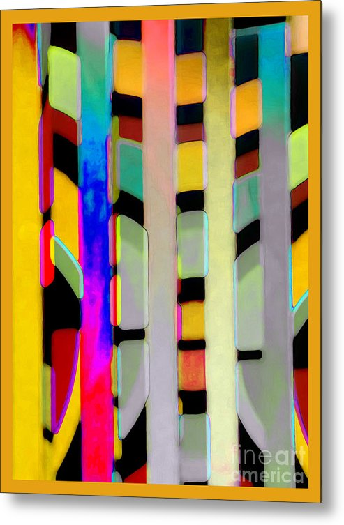 Abstract Metal Print featuring the photograph Just Color 2 by Linda Parker