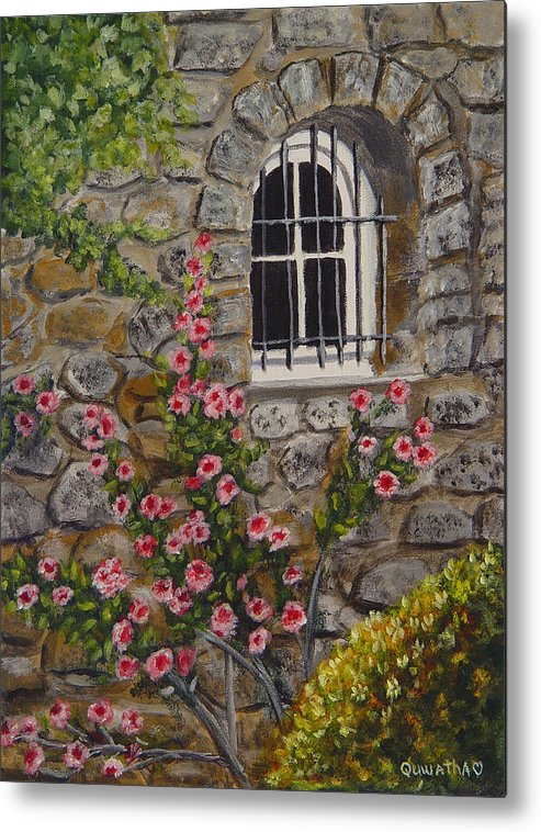 Window Metal Print featuring the painting Les Arcs Sur Argens by Quwatha Valentine