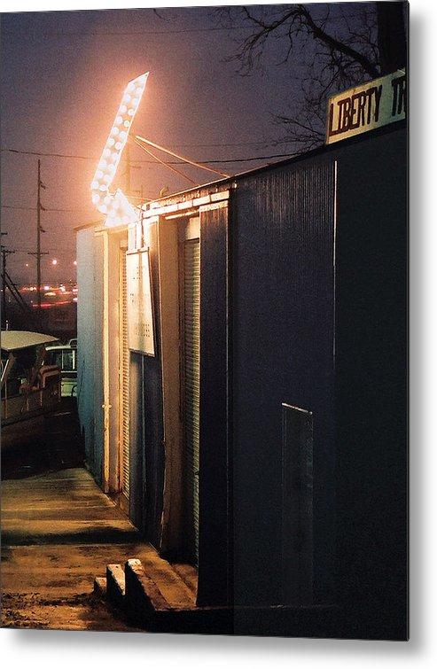 Night Scene Metal Print featuring the photograph Liberty by Steve Karol