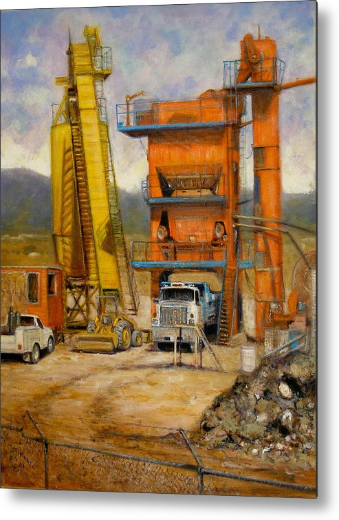 Realism Metal Print featuring the painting Lunch Break by Donelli DiMaria