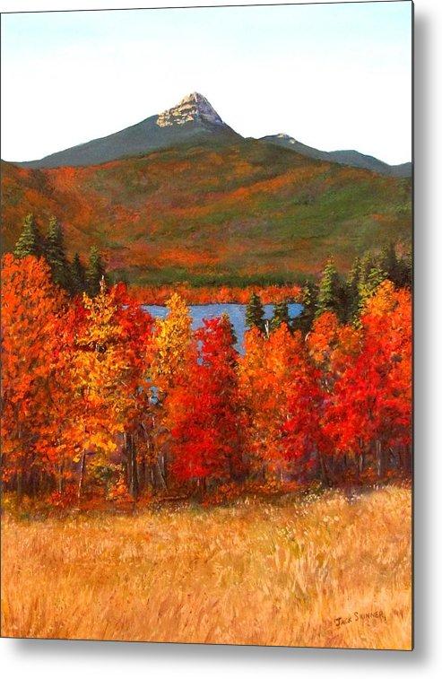 Mt Chocorua Metal Print featuring the painting Mt.chocorua by Jack Skinner