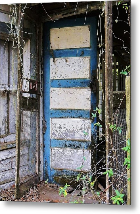 Door Metal Print featuring the photograph Nobody Home by Leslie Revels