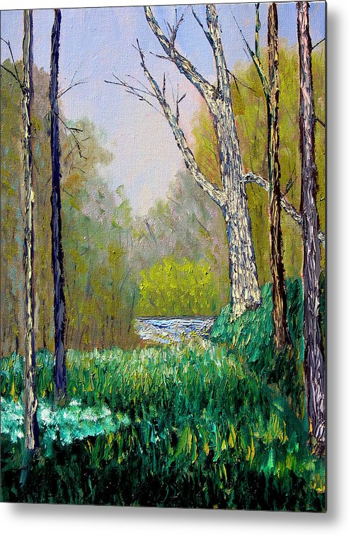 Trees Metal Print featuring the painting Park Meadow by Stan Hamilton