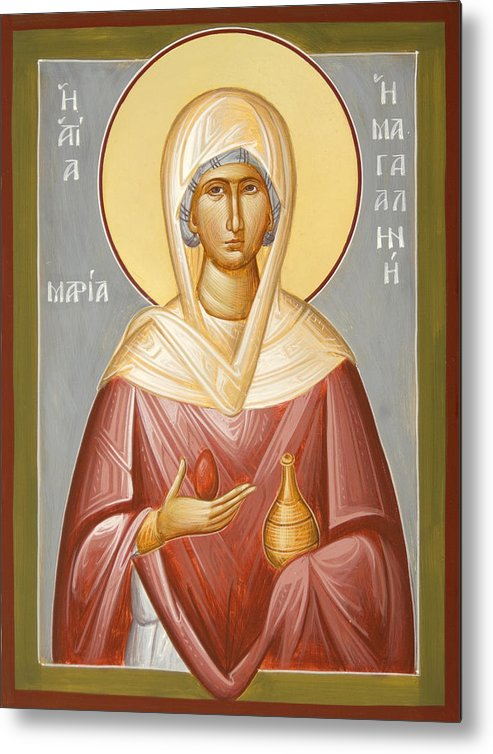 St Mary Magdalene Metal Print featuring the painting St Mary Magdalene by Julia Bridget Hayes