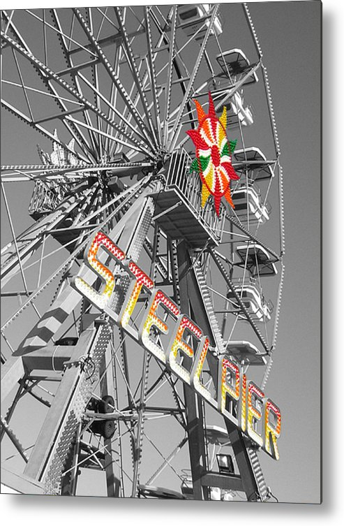 Steel Pier Metal Print featuring the photograph Steel Pier by Heather Weikel