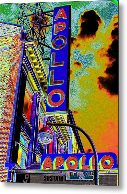 Harlem Metal Print featuring the photograph The Apollo by Steven Huszar