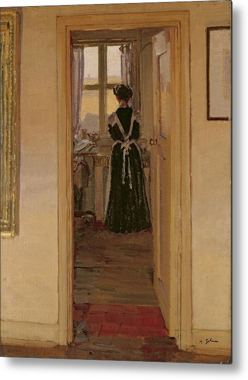 The Metal Print featuring the painting The Kitchen by Harold Gilman