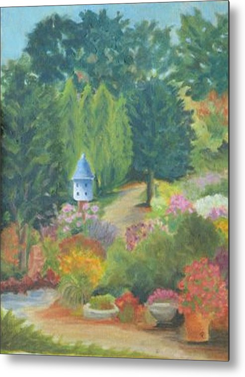Landscape Metal Print featuring the painting The Secret Garden by Paula Emery