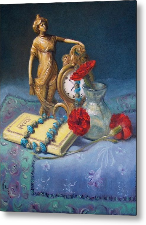 Realism Metal Print featuring the painting Timekeeper by Donelli DiMaria