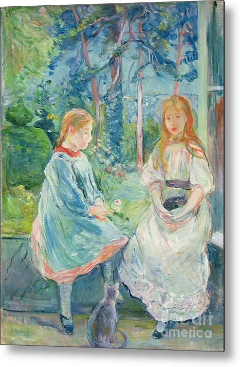 Young Metal Print featuring the painting Young Girls At The Window by Berthe Morisot