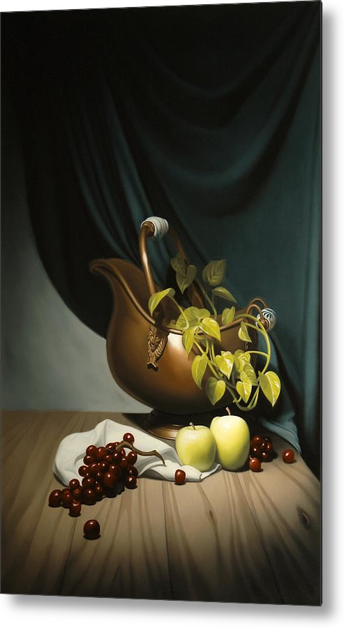 Still Life Painting Metal Print featuring the painting Still Life Painting Zanndam Evening by Eric Bossik