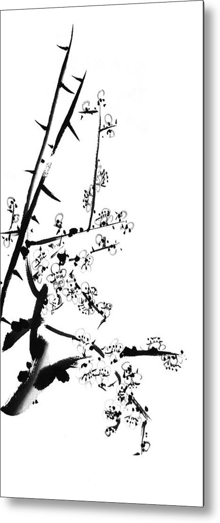 Japanese Metal Print featuring the painting Sublime by Chang Lee