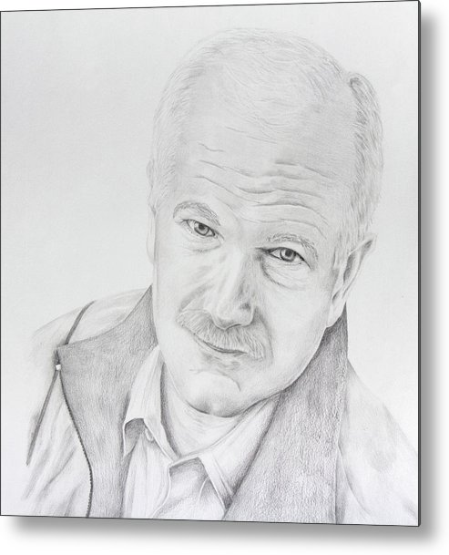 Jack Layton Metal Print featuring the drawing Jack Layton by Daniel Young