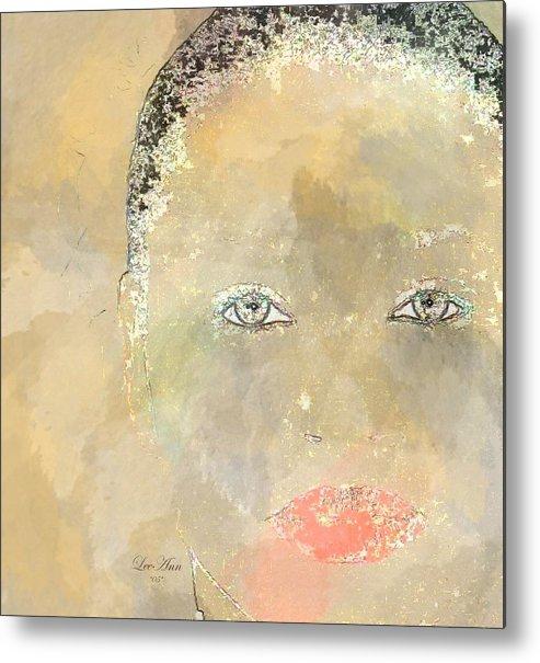 Portrait Metal Print featuring the digital art Rocky by LeeAnn Alexander