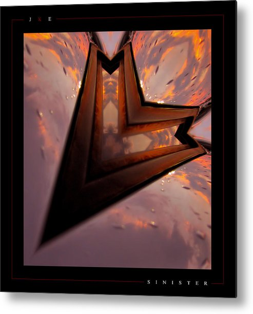 Abstract Metal Print featuring the photograph Sinister by Jonathan Ellis Keys