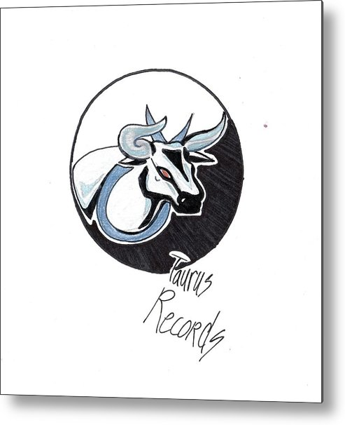 Metal Print featuring the drawing Taurus Logo by Cayla Samano