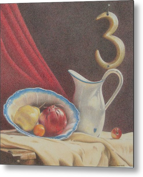 Still Life Metal Print featuring the painting The Third Element by Bonnie Haversat