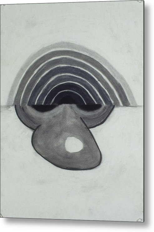 Charcoal Metal Print featuring the drawing Untitled by Jamie Wooten