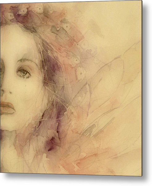 Marianne Faithfull British Metal Print featuring the painting As Tears Go By by Paul Lovering