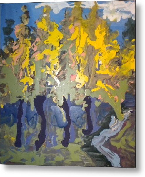 Alzheimer's Metal Print featuring the painting Autumn In Montreal By David by Art Without Boundaries