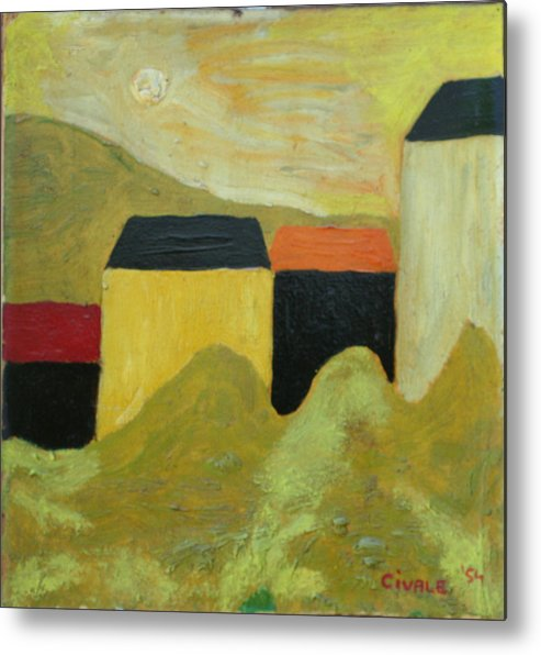 Metal Print featuring the painting Sunny Landscape by Biagio Civale