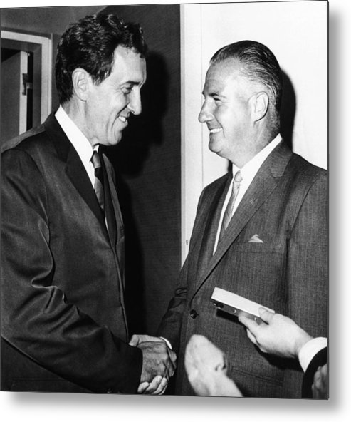 History Metal Print featuring the photograph 1968 Republican And Democratic Vice by Everett