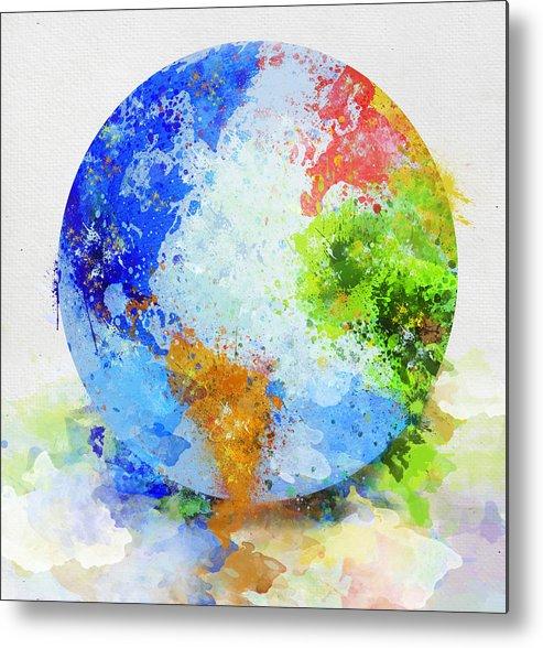 Adventure Metal Print featuring the painting Globe Painting by Setsiri Silapasuwanchai