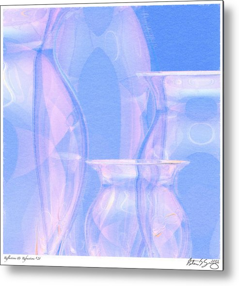 Glass Metal Print featuring the photograph Abstract Number 21 by Peter J Sucy