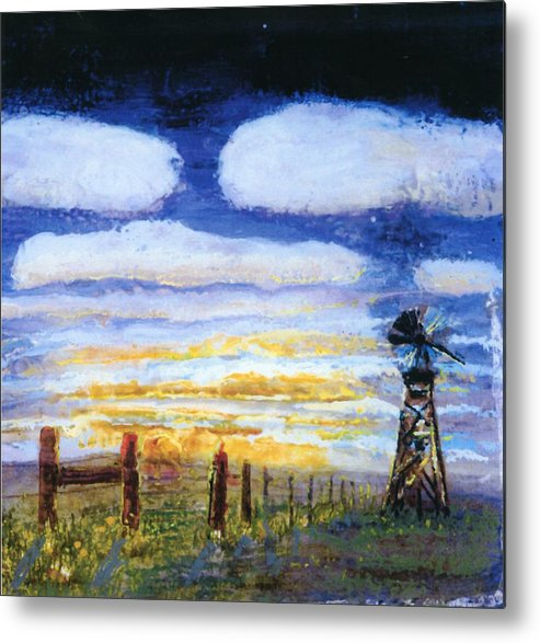 Blues Metal Print featuring the painting Basics Air by Helen Musser