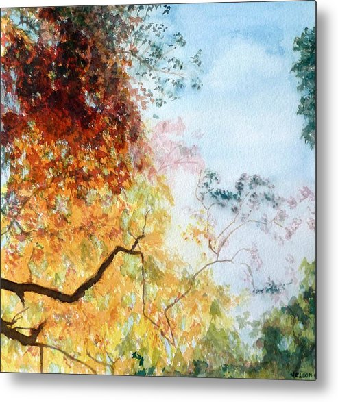 Metal Print featuring the painting Fall Colors by William Nelson