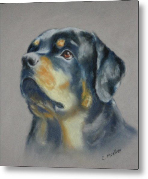 Dog Metal Print featuring the painting Lars by Carol Mueller