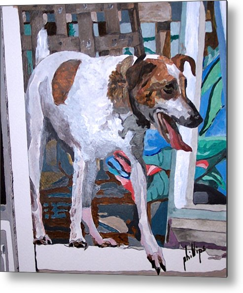 Dog Jack Russell Terrier Metal Print featuring the painting Lula by Jim Phillips