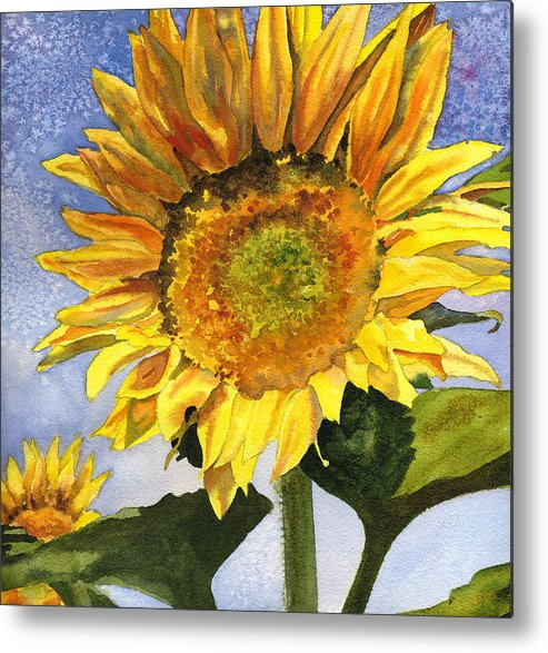 Sunflower Painting Metal Print featuring the painting Sunflowers II by Anne Gifford