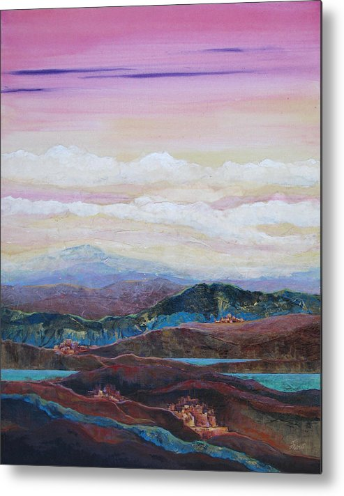 Painting Metal Print featuring the painting Arizona Reflections Number Three by Don Trout