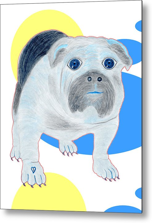Dogs Metal Print featuring the painting Charlie The Bulldog by Tess M J Iroldi