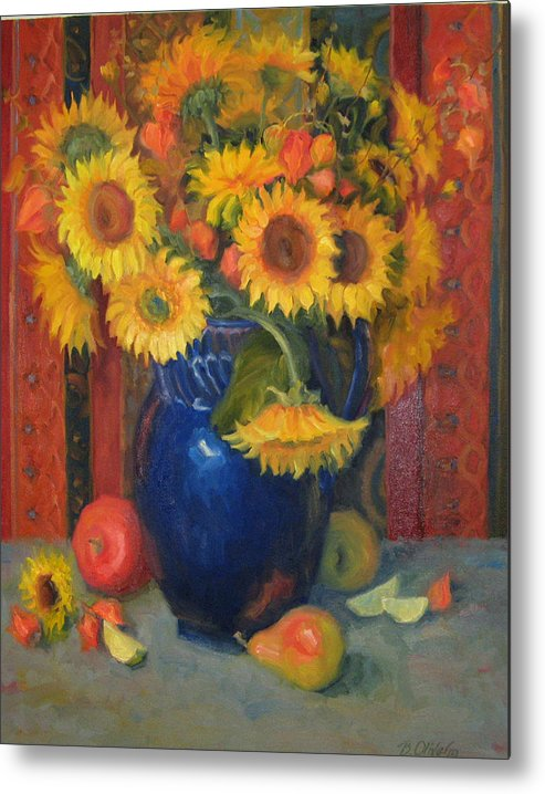 Still Life Metal Print featuring the painting Glorioso by Bunny Oliver
