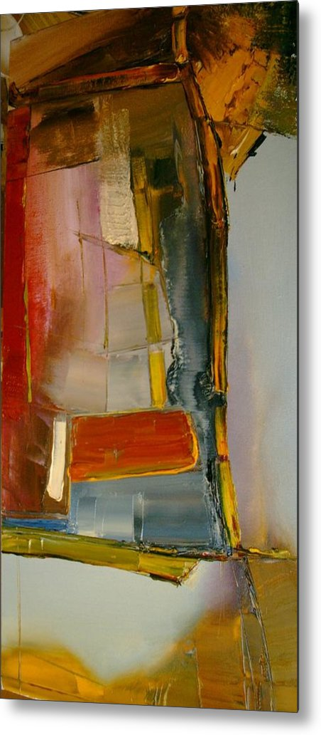 Abstract Metal Print featuring the painting Everything Is Blended Nothing Stands Alone by Stefan Fiedorowicz