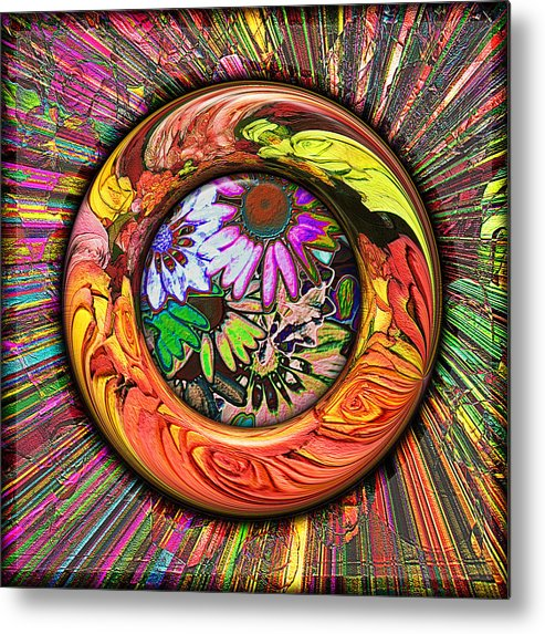 Digital Metal Print featuring the digital art Look Through Any Window by Wendy J St Christopher