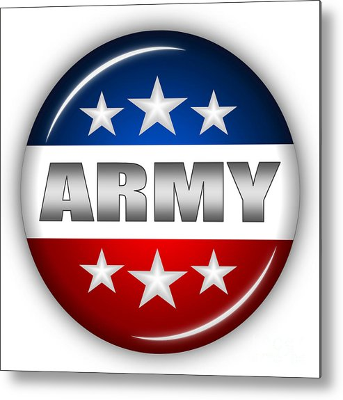 Army Metal Print featuring the digital art Nice Army Shield by Pamela Johnson
