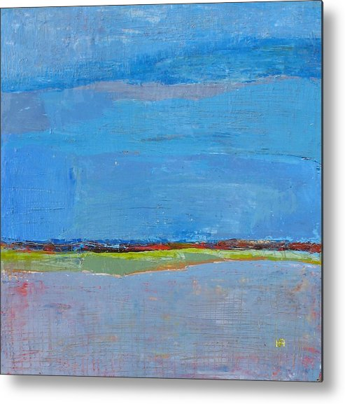 Metal Print featuring the painting Abstract Landscape1 by Habib Ayat