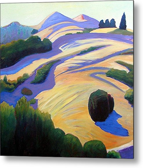 Hills Metal Print featuring the painting Alluring Windy Hill by Gary Coleman